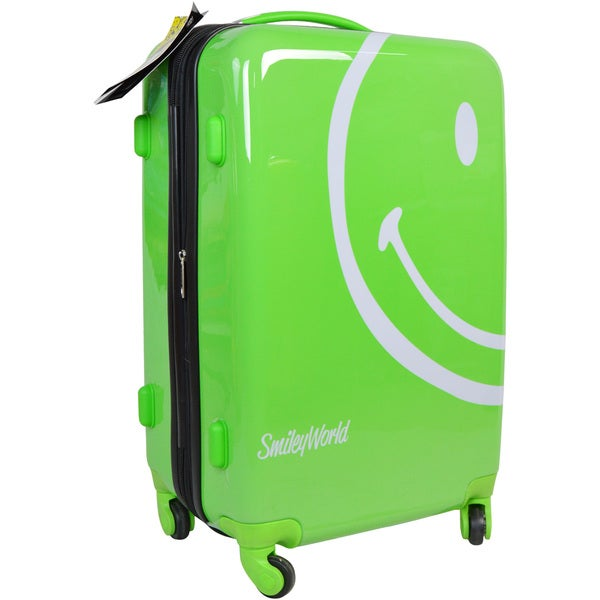 Smiley World Wink Lime Green 22 Inch Hard Shell Carry On
