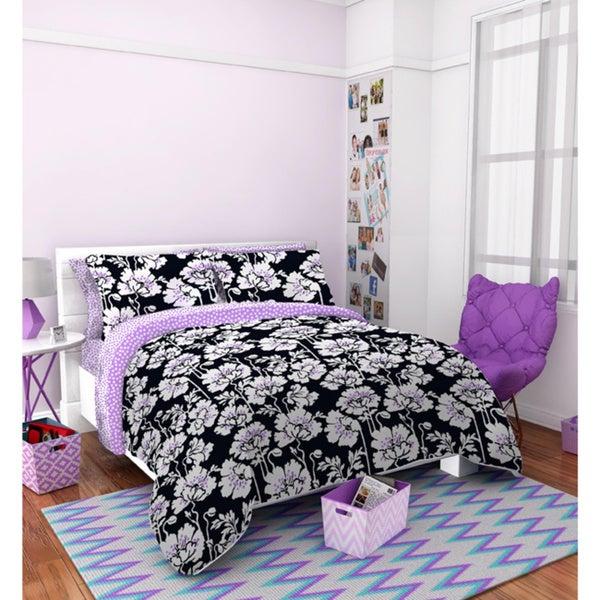 Seventeen Midnight Poppies 3-piece Comforter Set