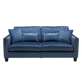 Sunpan Cathedral Ink Blue Sofa