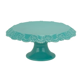 Lace Turquoise 12-inch Cake Stand