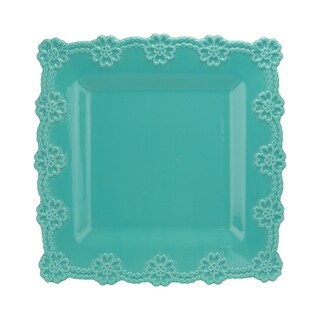 Turquoise Square 12-inch Lace Platter