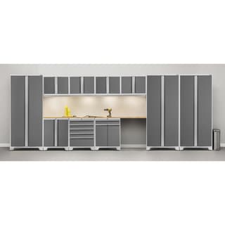 NewAge Pro Series 12-piece Steel Cabinet Set with Bamboo Worktops