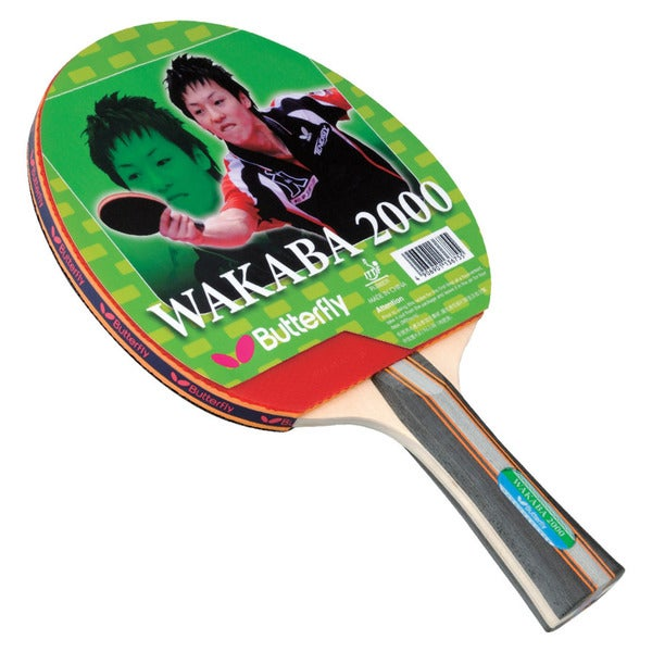 Butterfly Wakaba 2000 Black and Red Wooden Table Tennis Racket