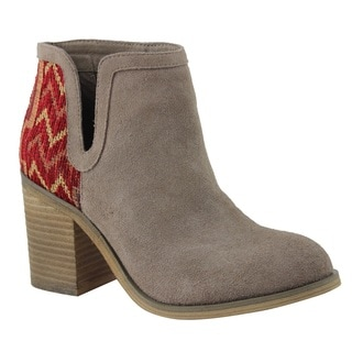 Rag & Co Women's Black/Beige Suede Carla Bootie