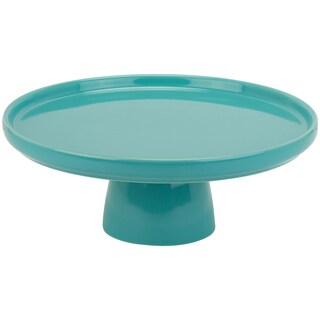 10 Strawberry Street Whittier Turquoise 10-inch Cake Stand