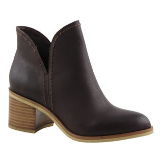 Rag & Co. Women's Black/Brown Leather Libby Booties