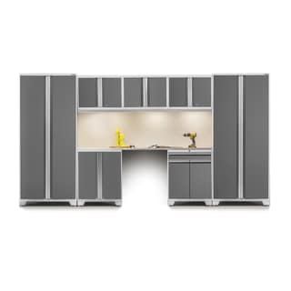 NewAge Pro Series 8-piece Cabinet Set with Stainless Steel Worktop