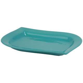 10 Strawberry Street Whittier Turquoise 12-inch Bend Platter