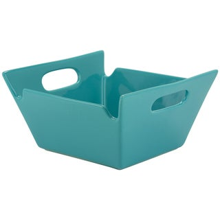 Whittier Turquoise 10-inch Square-handled Bowl