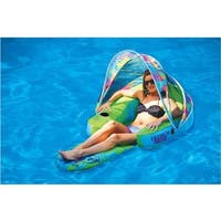 Margaritaville PVC and Mesh Inflatable Cabana Chair with Canopy