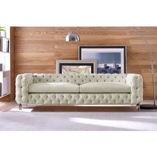 celine beige linen sofa - Tov Furniture