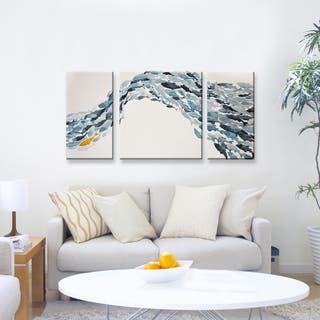 'Goldfish' Wrapped Canvas Coastal Wall Art Set by Norman Wyatt Jr.