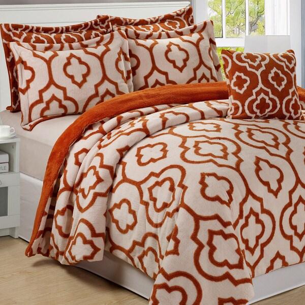 Serenta Jacquard Sherpa 6-piece Bedspread Set