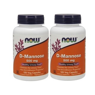 Now Foods 500mg D-Mannose (120 Capsules)