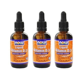 Now Foods 2-ounce Liquid Vitamin D-3 (60 ml)