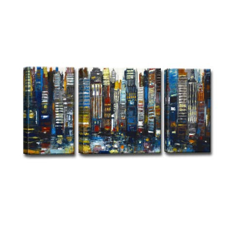 Ready2HangArt 'Never Sleeps' by Norman Wyatt Jr. 3-piece Wrapped Canvas Art Set