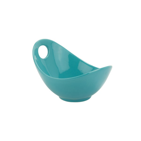 10 Strawberry Street Whittier Set of 4 Turquoise 7-inch Fruit Bowls