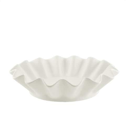 10 Strawberry Street Whittier Set of Four 8-inch Round Ruffle Bowls
