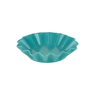 Whittier Set of 4 Turquoise 8-inch Ruffle Round Bowls