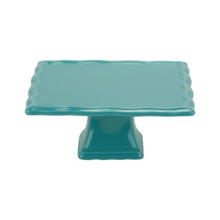 10 Strawberry Street Whittier Set of 2 Turquoise 8-inch Square Cake Stands
