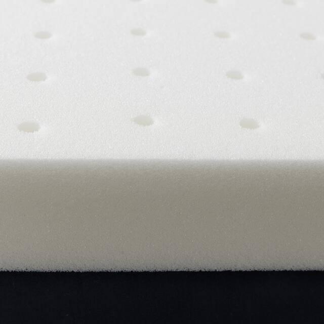 2.5 Inch Ventilated Memory Foam Mattress Topper - Crown Comfort - White