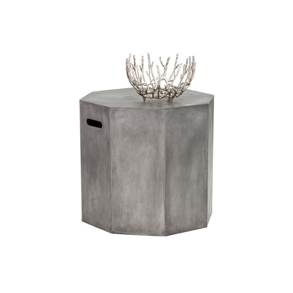 Sunpan Ollo Anthracite Grey End Table