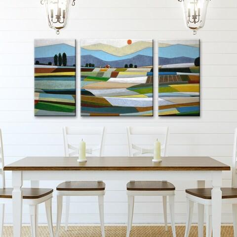 Ready2HangArt 'Fertile Acres' by Norman Wyatt Jr. 3-piece Wrapped Canvas Art Set