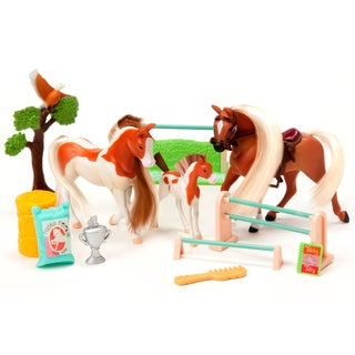 Palomino and Paint Family Champions Horse Set