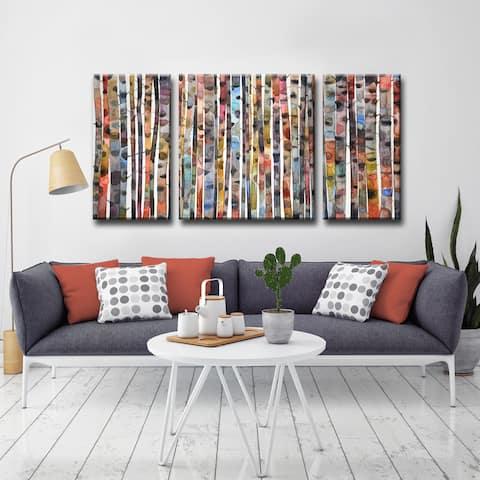 Ready2HangArt 'Brilliant Birch' by Norman Wyatt Jr. 3-piece Wrapped Canvas Art Set