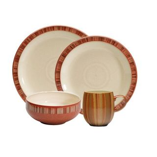 Denby Fire Stripes 16-piece Dinnerware Set