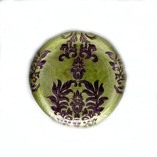 Damask Green/Purple Salad Plate