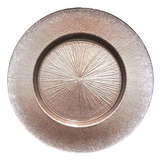 Ritz Brown Silver Gilitter Dinner Plate