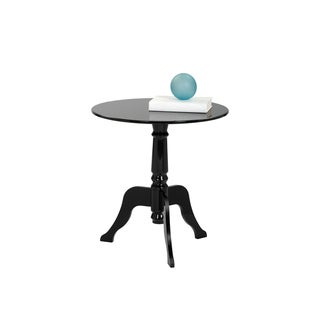 Sunpan Cassandra Black Round End Table