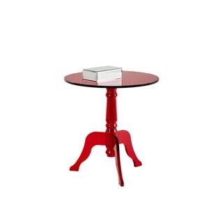 Sunpan Cassandra Black Round End Table