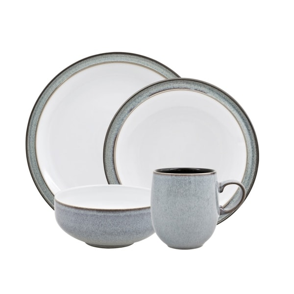 Denby Jet Grey 16-piece Dinnerware Set  sc 1 st  Overstock & Denby Jet Grey 16-piece Dinnerware Set - Free Shipping Today ...