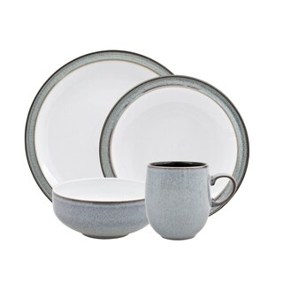 Denby Jet Grey 16-piece Dinnerware Set