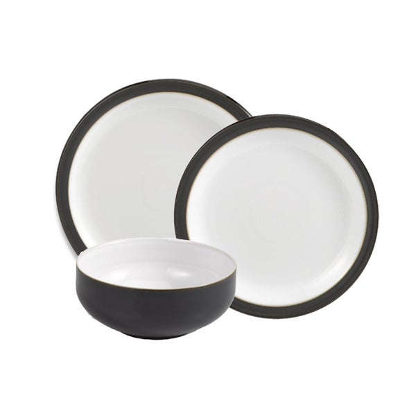 Denby Jet Black 12-piece Dinnerware Set