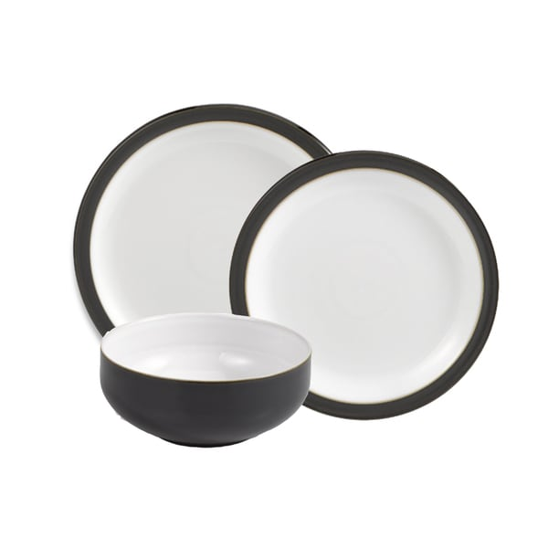 Denby Jet Black 12-piece Dinnerware Set  sc 1 st  Overstock.com & Denby Jet Black 12-piece Dinnerware Set - Free Shipping Today ...