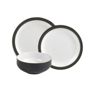 Denby Jet Black 12-piece Dinnerware Set