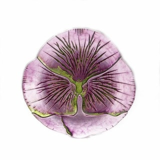 Pansy Purple/ Green Canape Plate