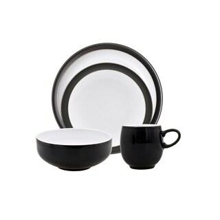 Denby Jet-black Stoneware 16-piece Dinnerware Set