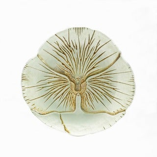 Pansy Turquoise/Gold Canape Plate
