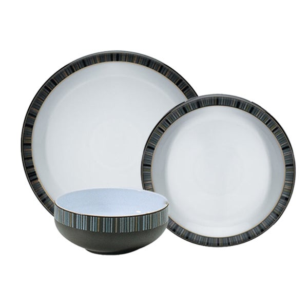 Denby Jet Stripes 12-piece Dinnerware Set  sc 1 st  Overstock.com & Denby Jet Stripes 12-piece Dinnerware Set - Free Shipping Today ...