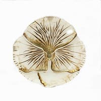 Pansy Ivory/Gold Canape Plate