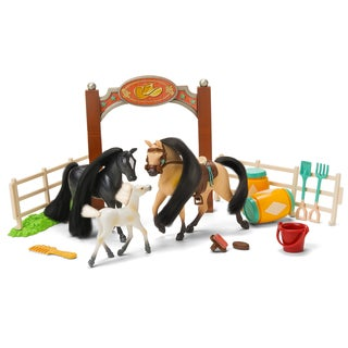 Family Champions Black and Brown Horse Set