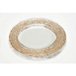 magara clear and gold plate salad plate