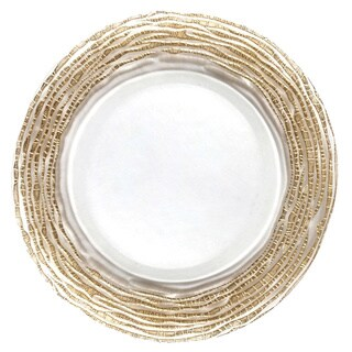 Magara Gold/Clear Charger Plate