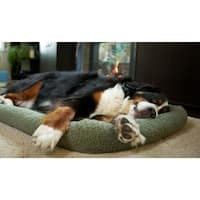 FurHaven NAP Faux Lambswool Crate Bolster Dog Bed