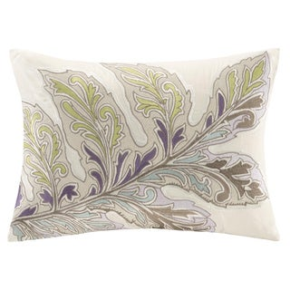 Echo Design Ishana Embroidered Cotton Oblong Throw Pillow
