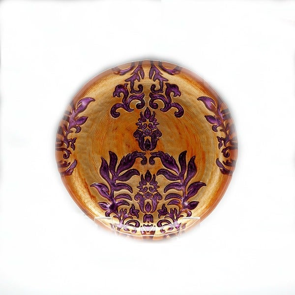 Damask Copper / Purple Salad Plate